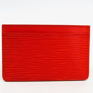 Louis Vuitton Red Epi Card Holder
